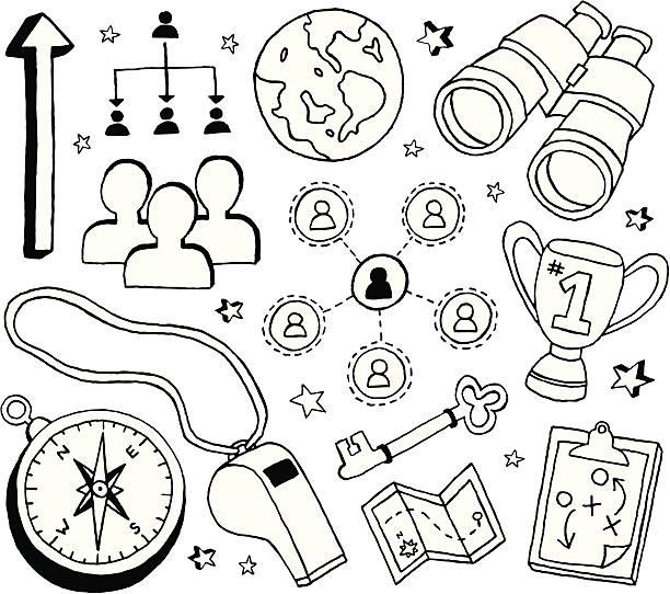 Liderança e Rabiscos - ilustração de arte em vetor