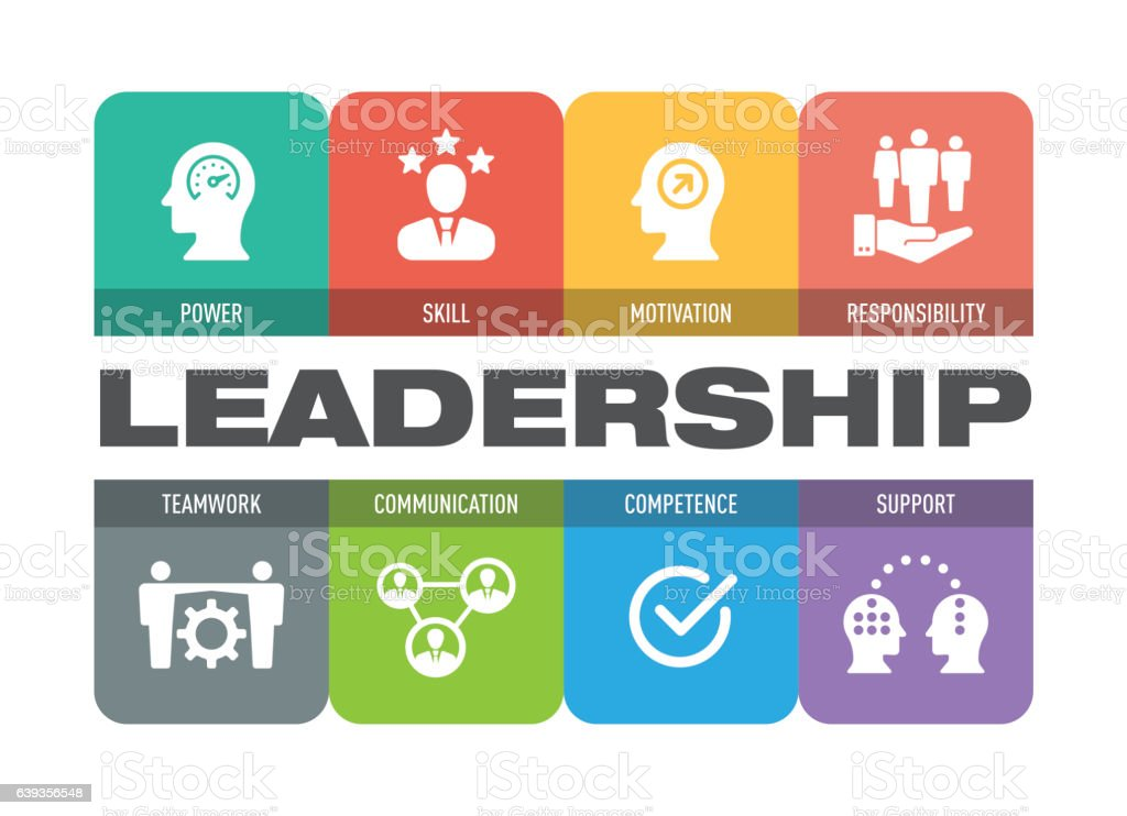Leadership Icon Set vector art illustration