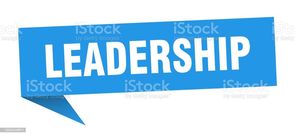 Leadership Speech Bubble Leadership Ribbon Sign Leadership Banner Stock Illustration Download Image Now Istock