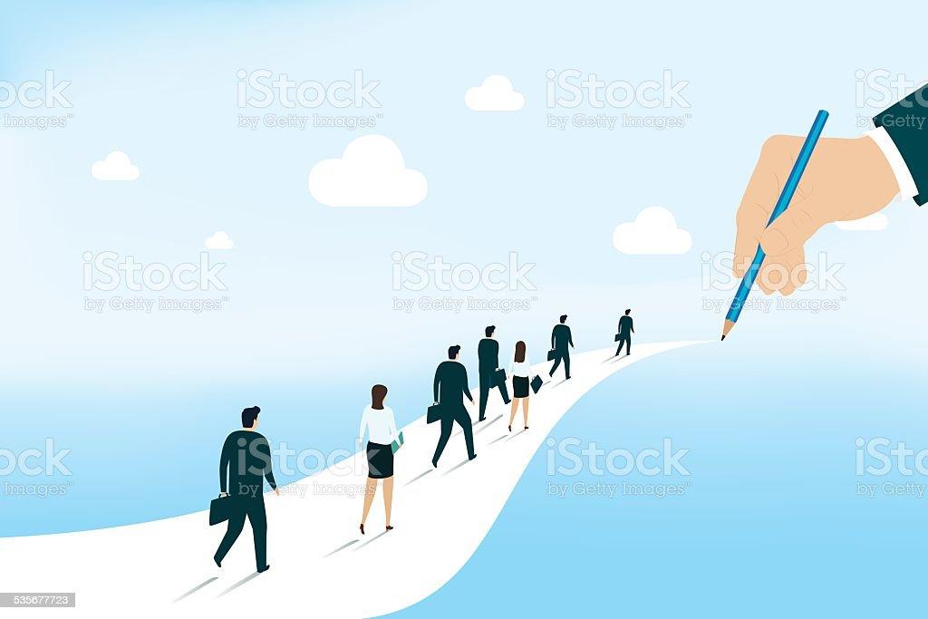 Leadership - Illustration vectorielle