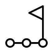 leadership Vector Thin Line Icon