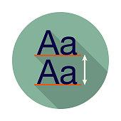 istock Leading Typography Icon 1129477360