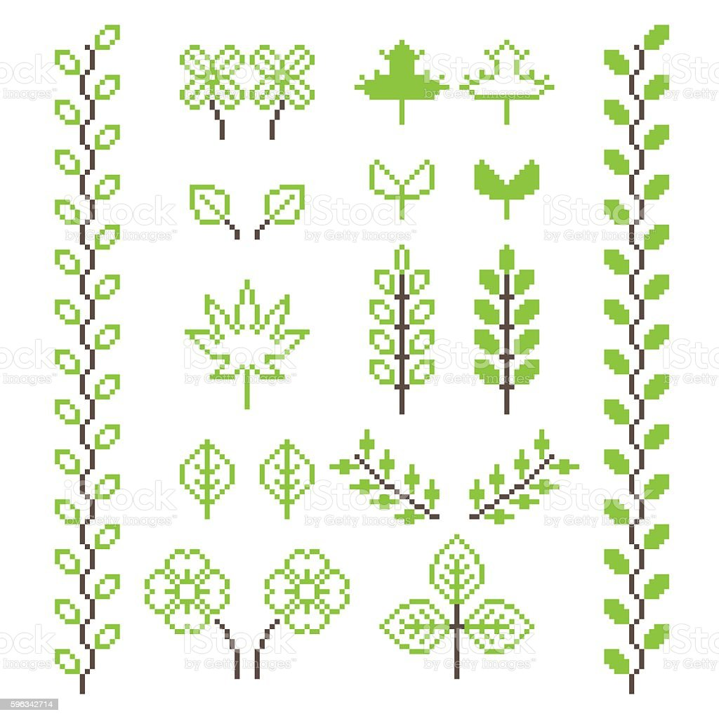 leaf and branch vector, ornament set Lizenzfreies leaf and branch vector ornament set stock vektor art und mehr bilder von abstrakt