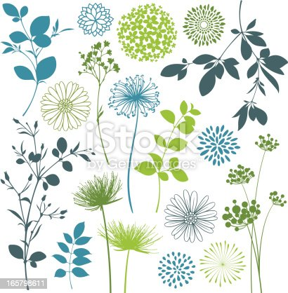 Flower and leaf design elements. Hi res jpeg included.Scroll down to see more of my illustrations linked below.
