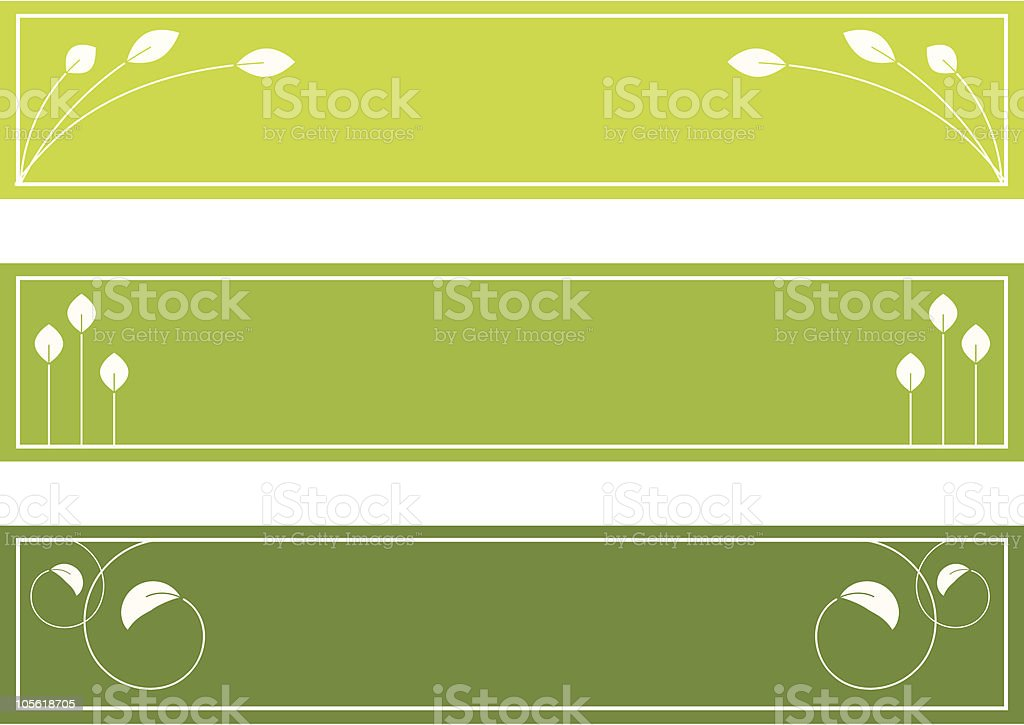 Leaf banners/headers royalty-free stock vector art