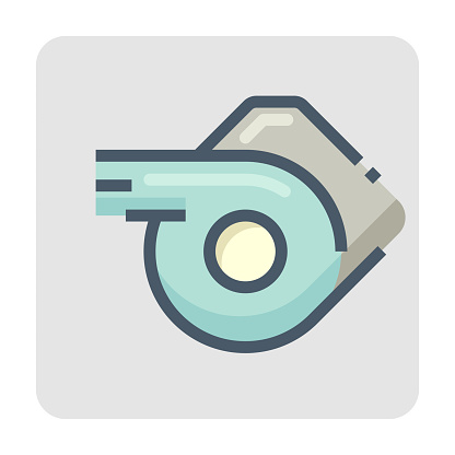 Leaf blower vector icon design. 48x48 pixel perfect and editable stroke.
