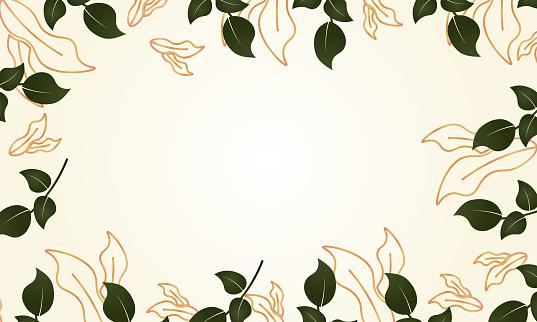leaf branch, flowers and pods. stock illustration