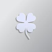 istock Leaf clover sign pop art style vector icon. Saint patrick symbol. Ecology concept. Flat design style. Vector pop art style vector icon. 1264469446