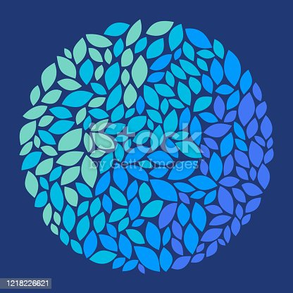 istock Leaf Earth Circle Round Abstract Shape 1218226621