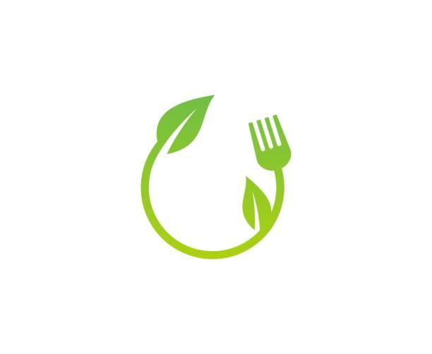 Blatt-Lebensmittel-Logo – Vektorgrafik