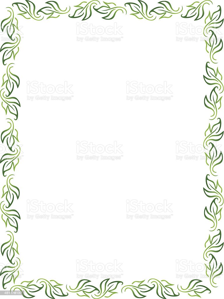 leaf frame portrait royalty-free stock vector art
