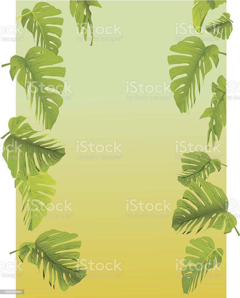 Leaf Frame - Vector royalty-free stock vector art