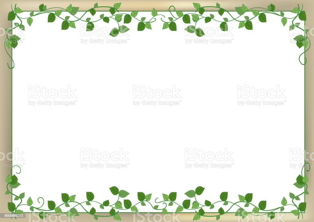 leaf frame with back wall image
