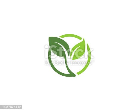 Leaf go green nature logo