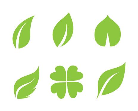 foto de Leaf Green Nature Logo And Symbol Template Vector Stock
