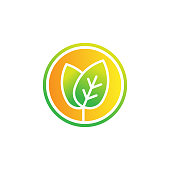 Leaf icon design vector illustration. Abstract Leaf icon vector concept for nature, agriculture and farm business. Green Tree Leaf Logo, icon, sign and symbol vector design illustration.