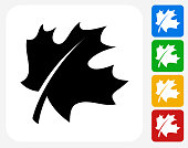 Leaf Icon Flat Graphic Design