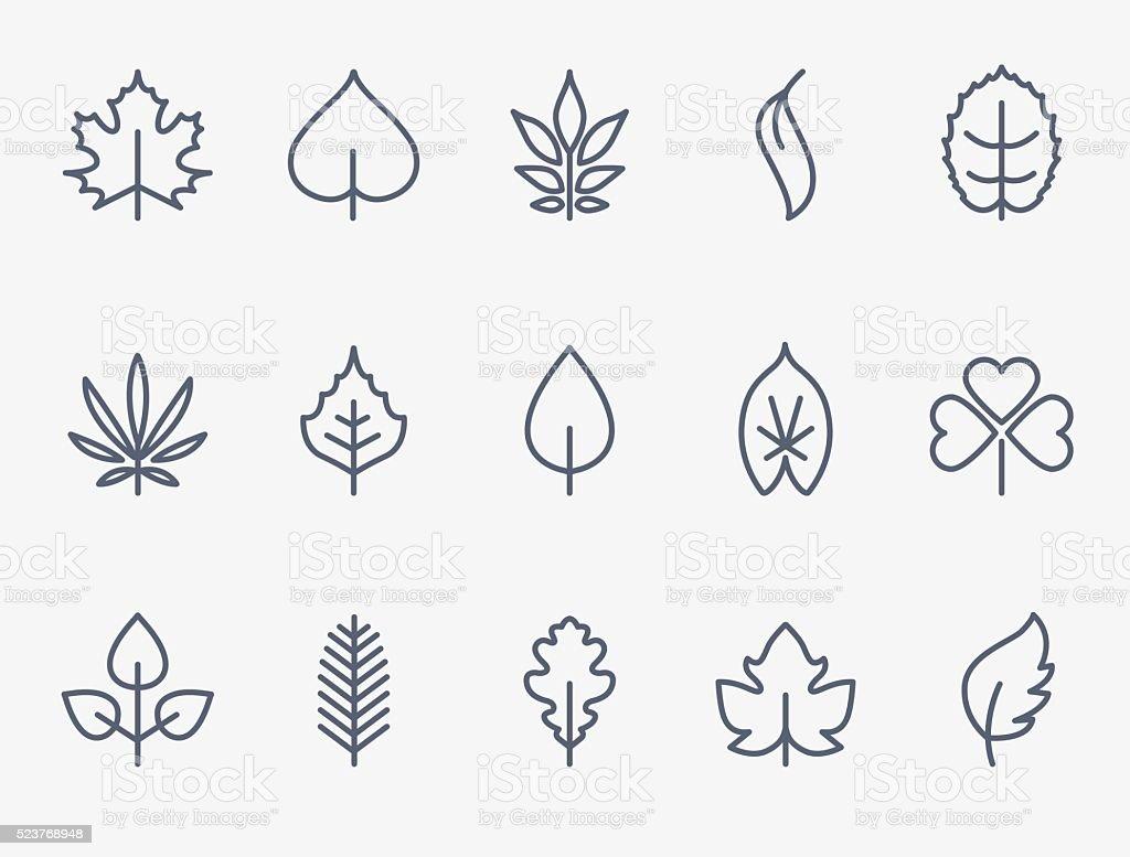 Blatt-Symbole – Vektorgrafik