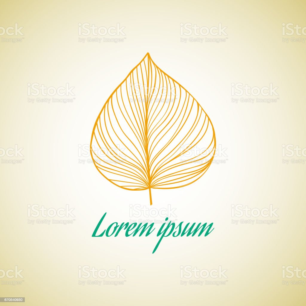 Leaf ideas design vector illustration on background vector art illustration