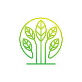 istock Leaf Logo design vector illustration. Abstract Leaf Logo vector in creative design concept for nature, agriculture and farm business. Tree Leaf Logo, icon, sign and symbol vector design illustration 1263328871