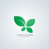 Leaf logo. Ecology logo. Logo template suitable for businesses and product names.