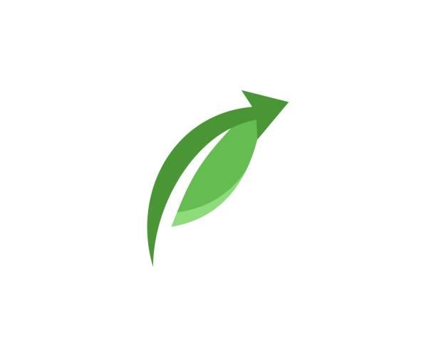 Blatt-Logo – Vektorgrafik