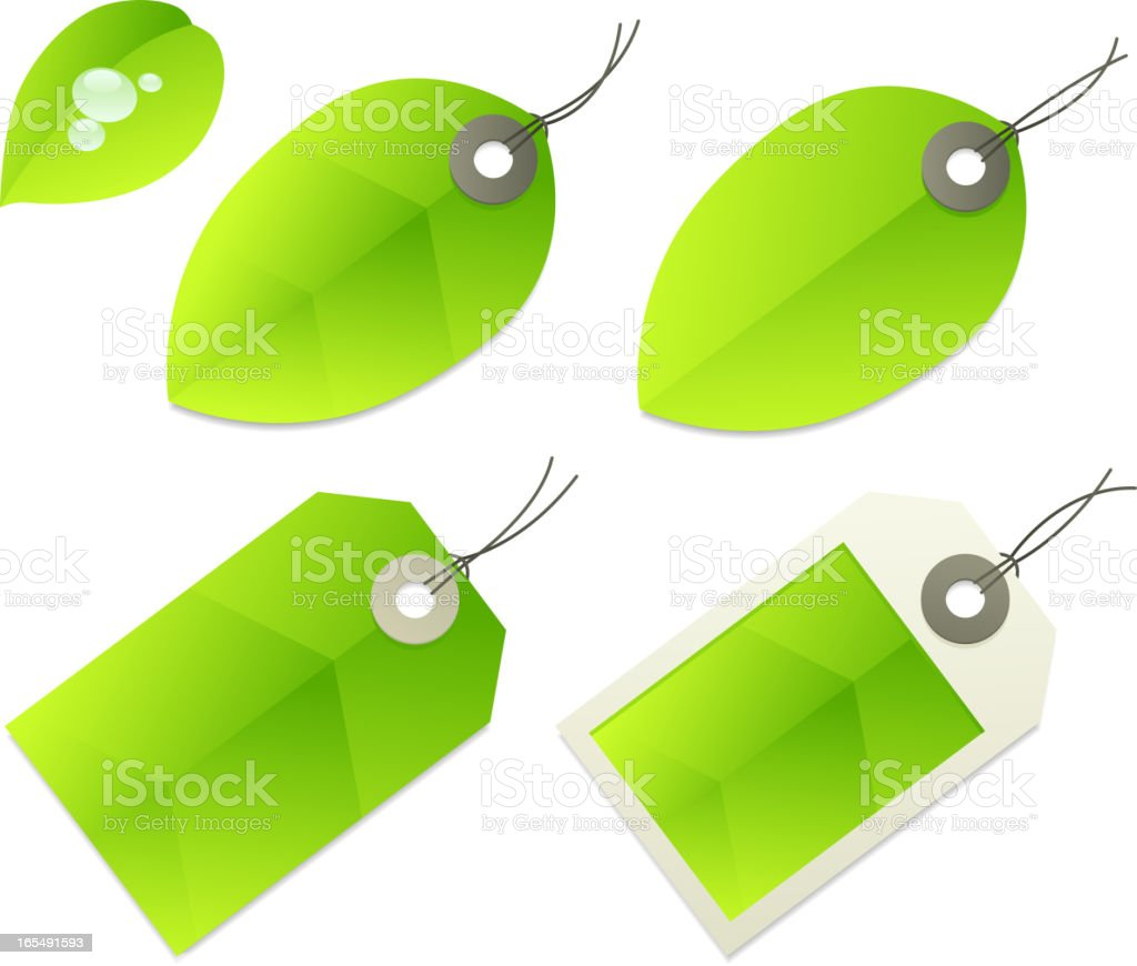 Leaf Price Tags royalty-free stock vector art