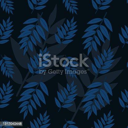 istock Leaf Seamless Pattern Illustration 1312040448