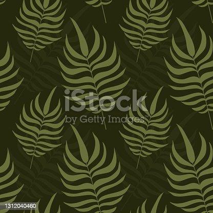 istock Leaf Seamless Pattern Illustration 1312040460