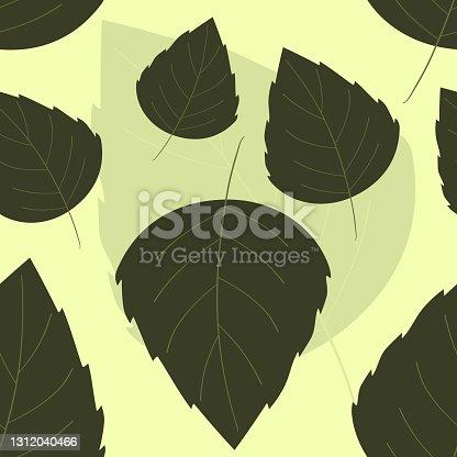 istock Leaf Seamless Pattern Illustration 1312040466