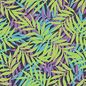 Vector leaf seamless pattern .