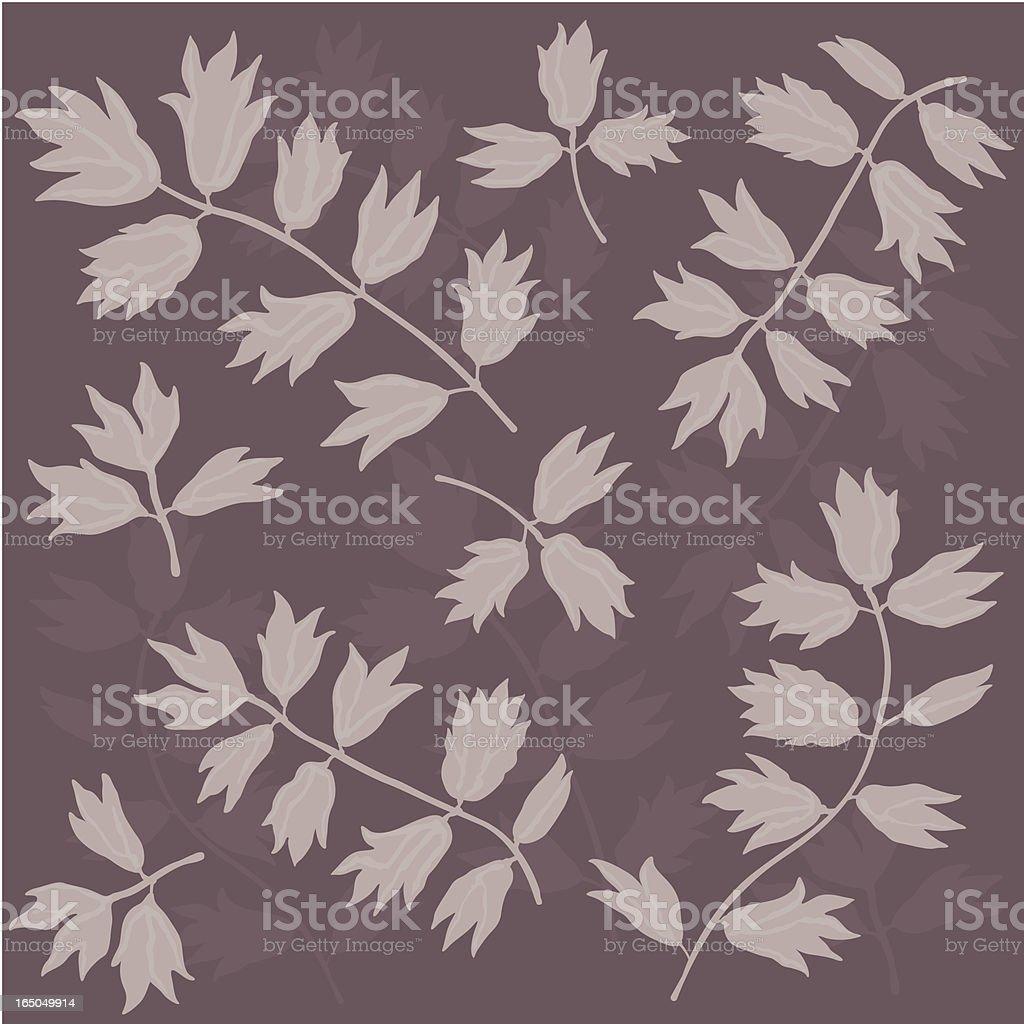Leaf Stalks Wallpaper royalty-free stock vector art