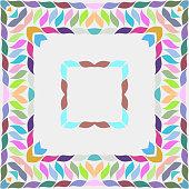 leaf style frame background