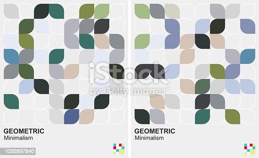 leaf style geometric minimalism background