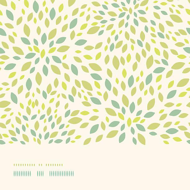 Leaf texture horizontal border seamless pattern background vector art illustration