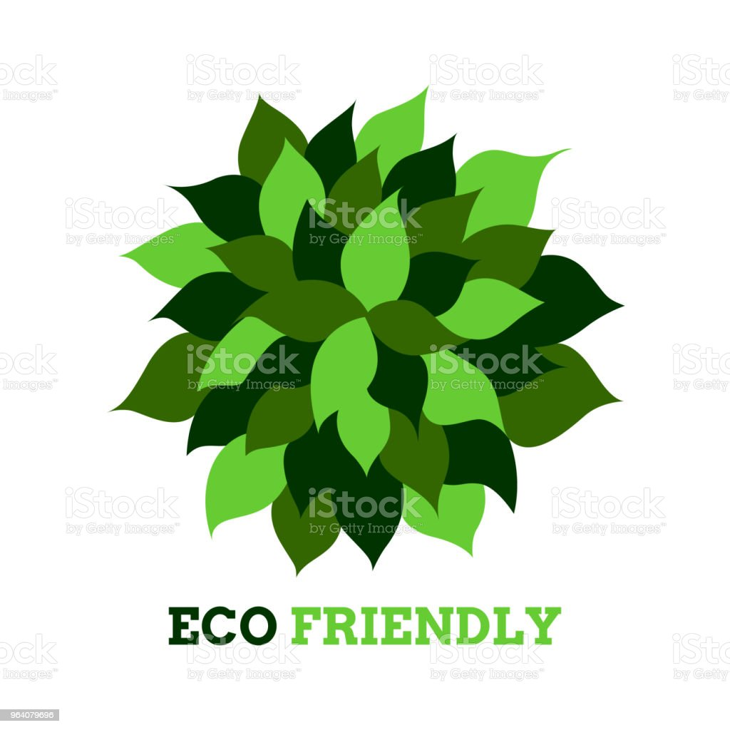 leaf tree flower eco friendly logo icon symbol vector design illustration - Royalty-free Abstract stock vector