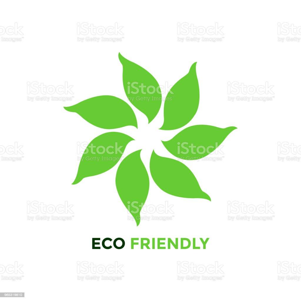 leaf tree flower eco friendly logo icon symbol vector design illustration royalty-free leaf tree flower eco friendly logo icon symbol vector design illustration stock illustration - download image now