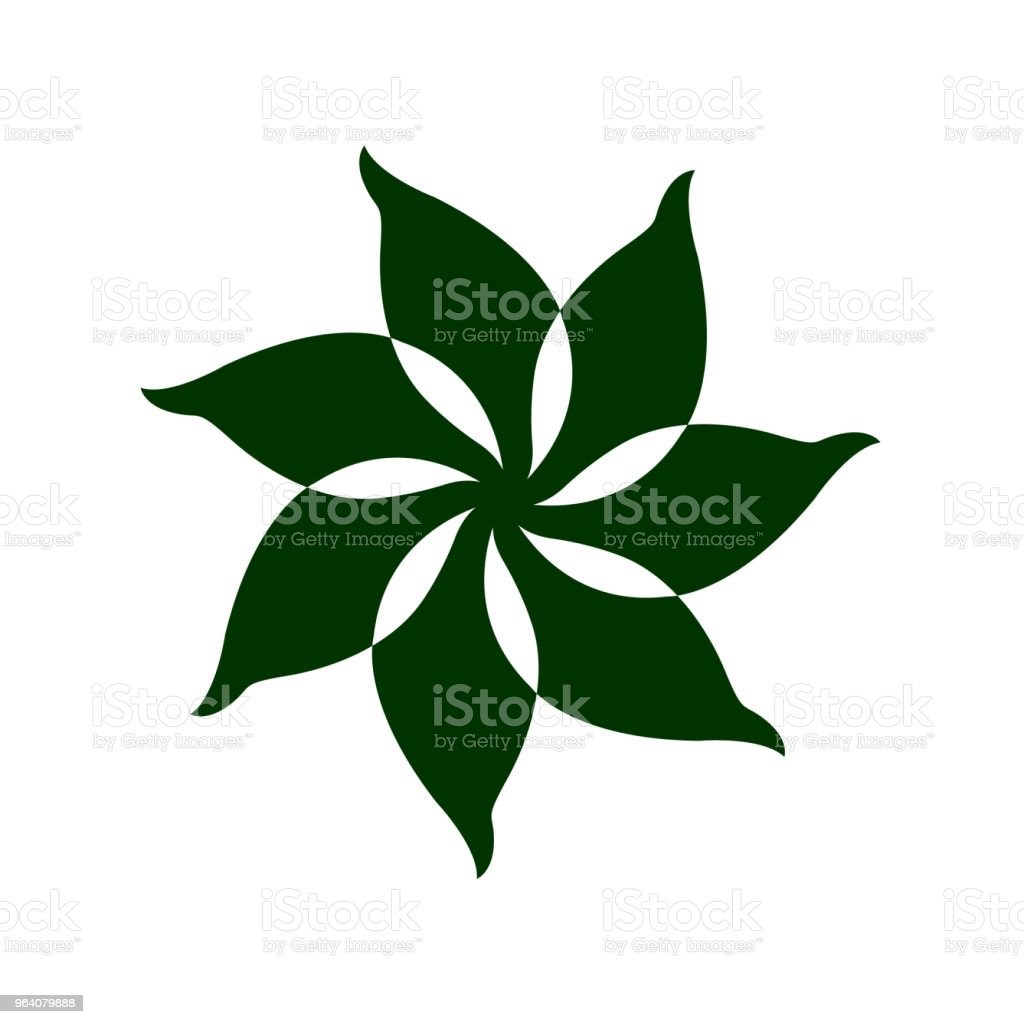 leaf tree flower floral logo icon symbol sign vector design illustration - Royalty-free Abstract stock vector