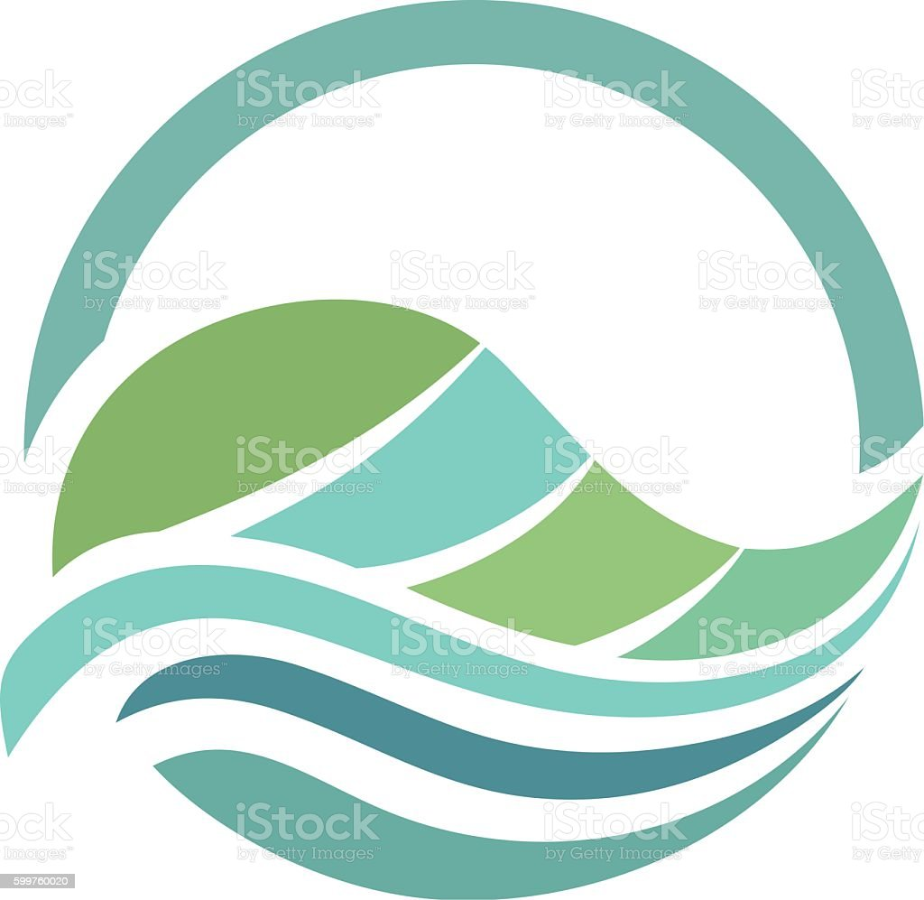 Preferred Leaf Water Abstract Half Circle Stock Vector Art & More Images of  GV03