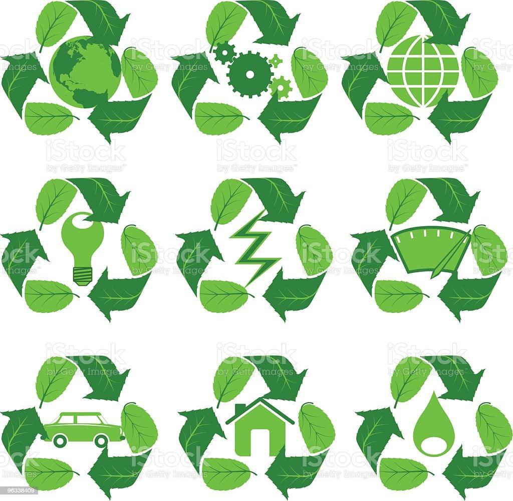 Leafcycle ikony - Grafika wektorowa royalty-free (Bez ludzi)