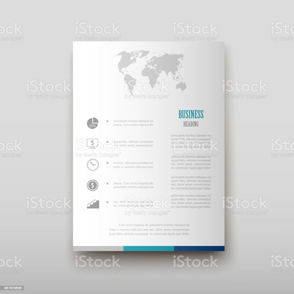 Leaflet Cover Presentation Abstract Geometric Background Layout In A4 Set Technology Brochure Flyer Design Template