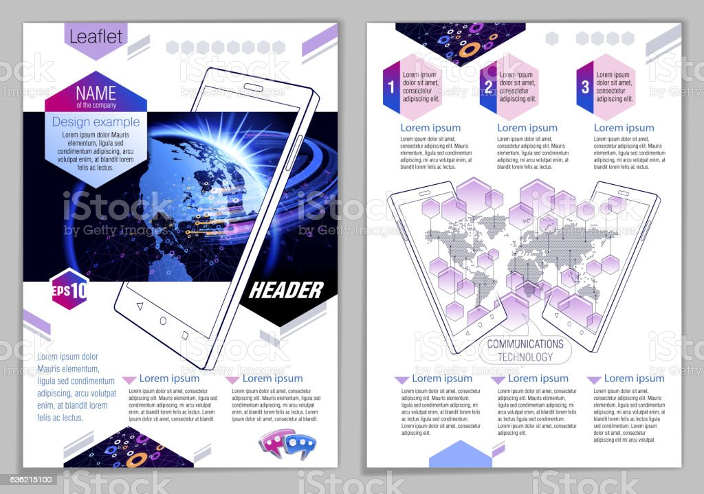Leaflet Design Example Stock Vector Art & More Images of Abstract