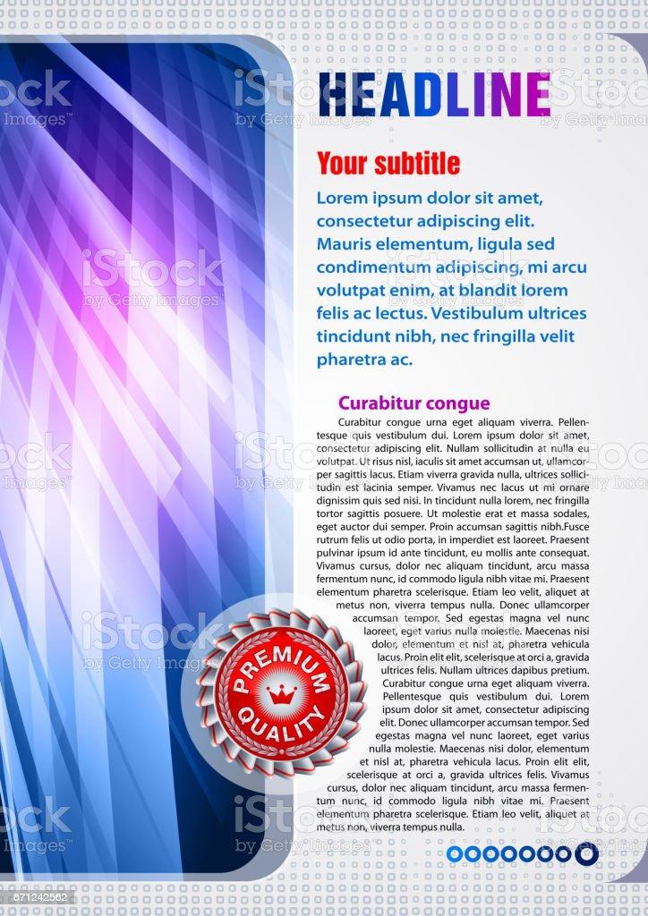 Leaflet design example. vector art illustration