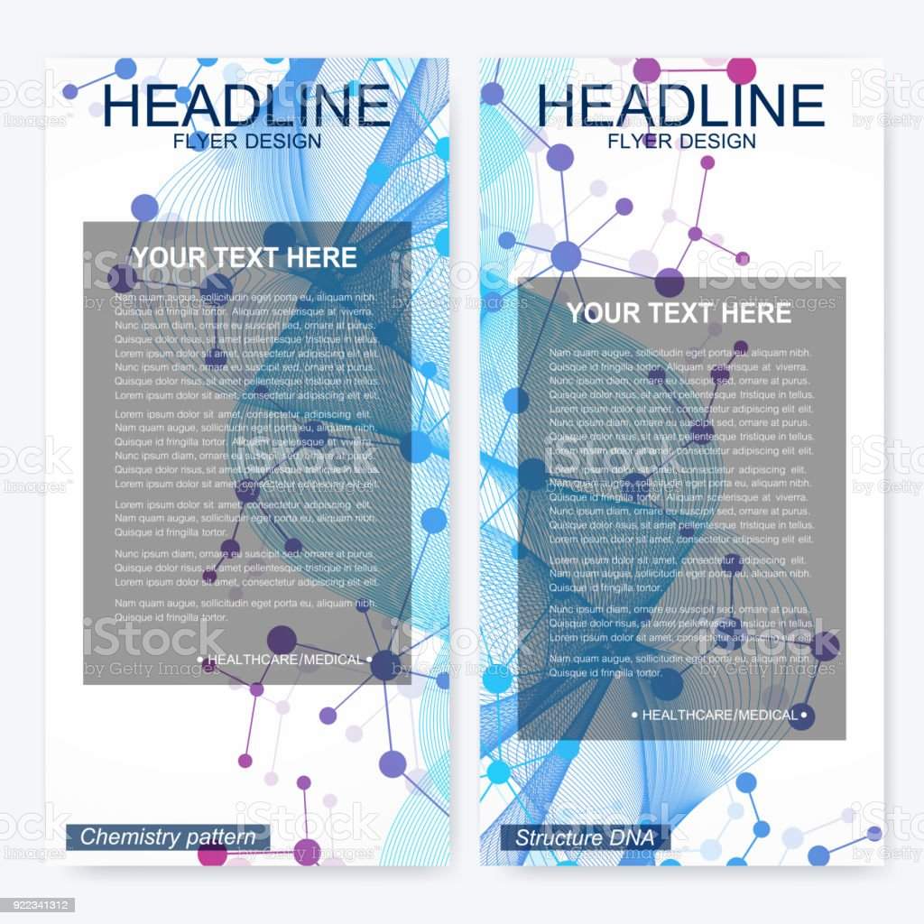 leaflet flyer layout magazine cover corporate identity template