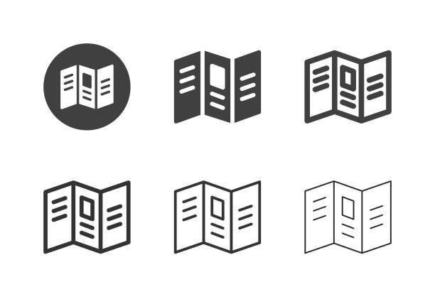 Leaflet Icons - Multi Series vector art illustration