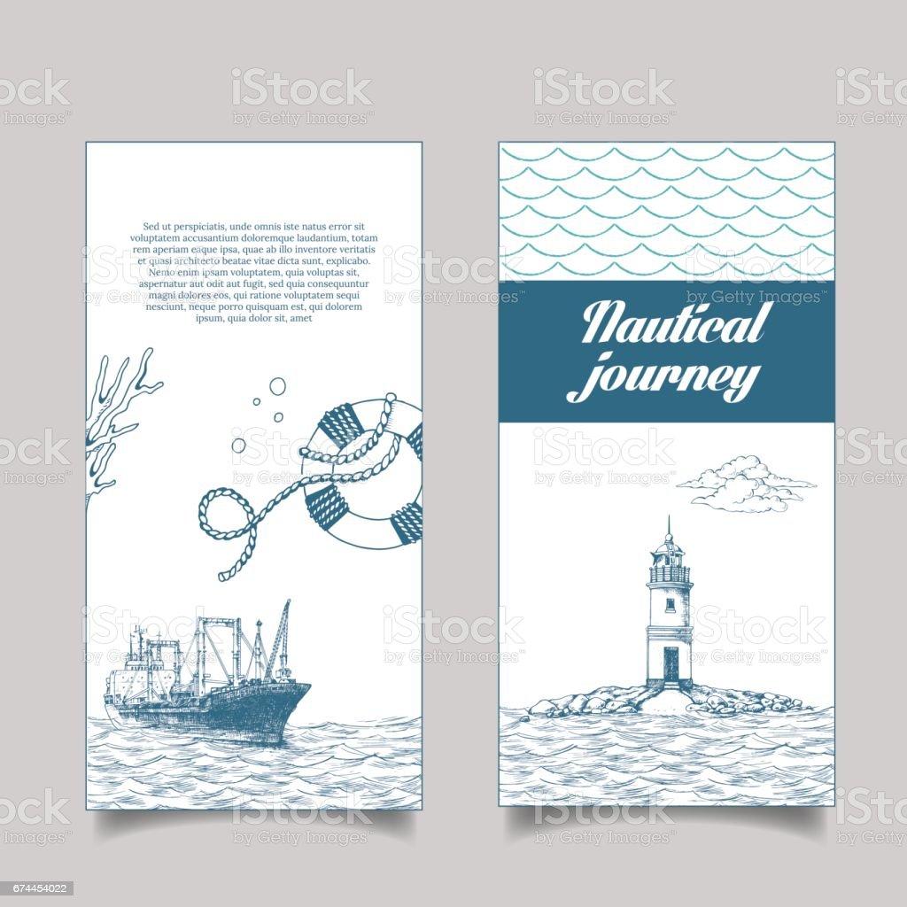 leaflet, reefer Forward vector art illustration