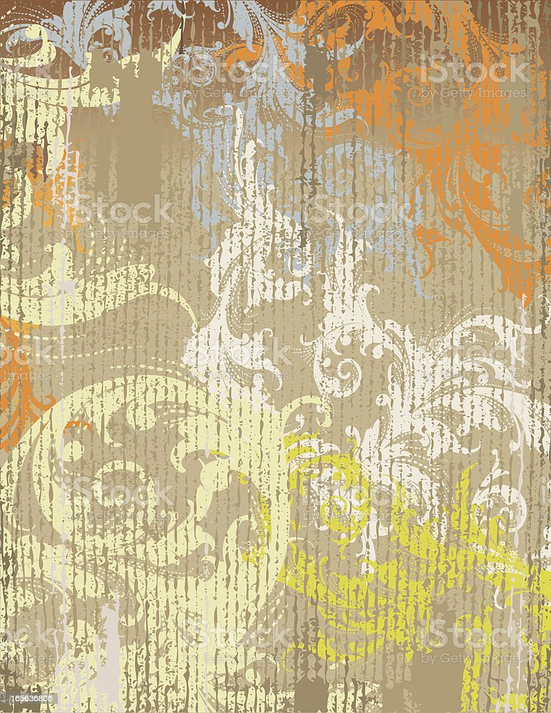 Leafy Grunge Scrollwork royalty-free stock vector art