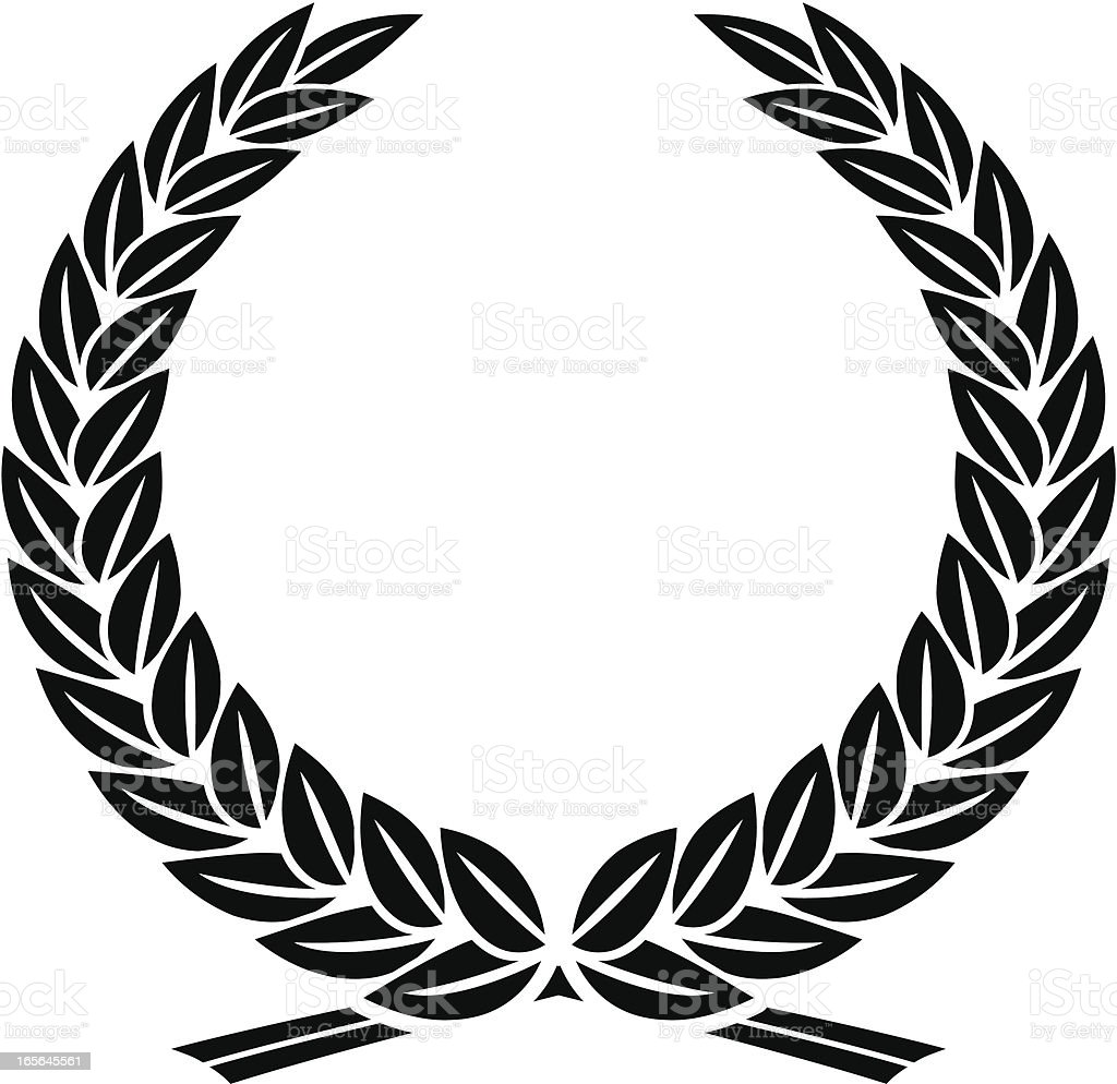 Leafy laurel wreath royalty-free leafy laurel wreath stock vector art & more images of black color