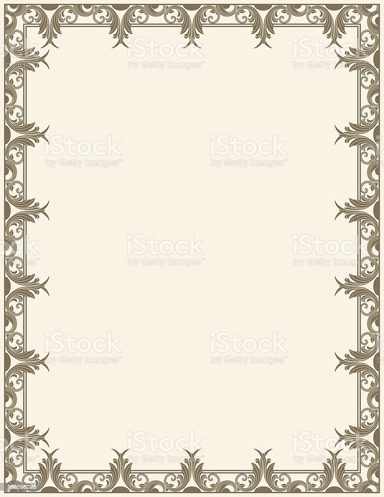 Leafy Page Border royalty-free leafy page border stock vector art & more images of antique