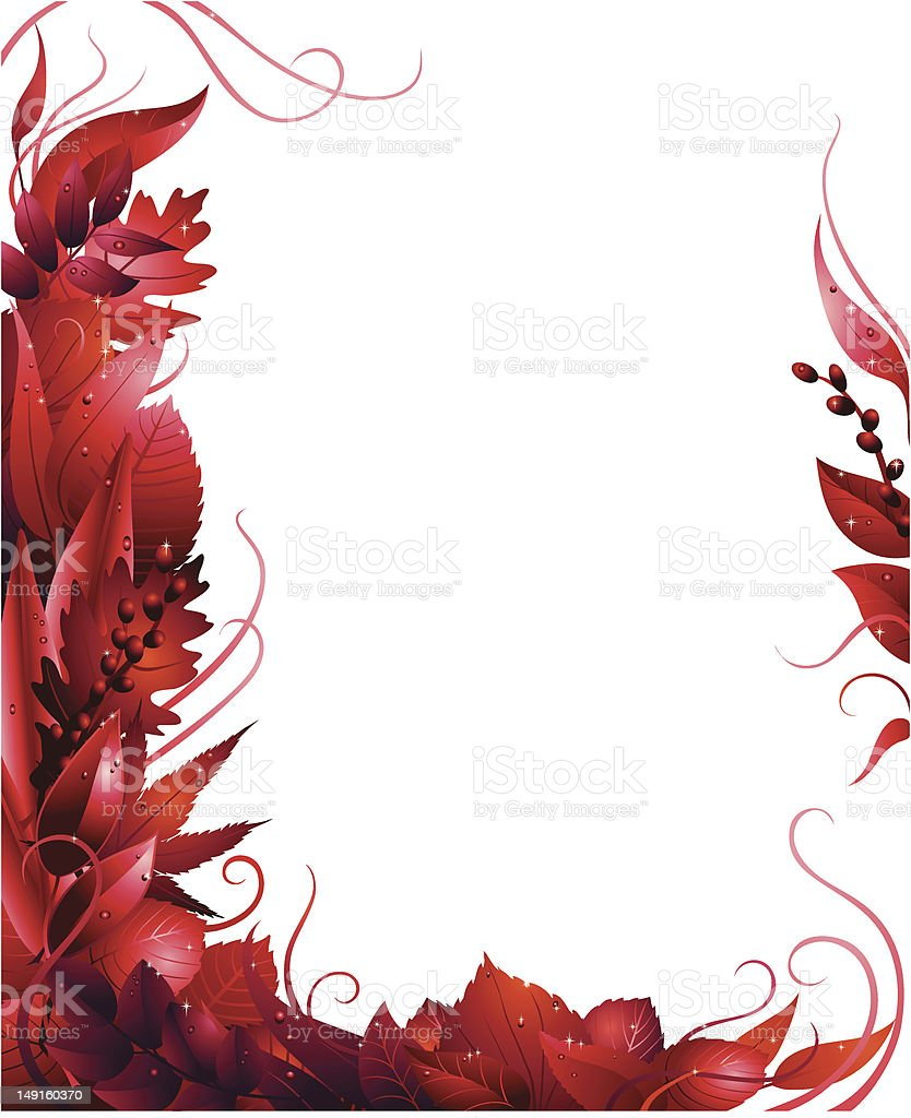 Leafy Red Border royalty-free stock vector art